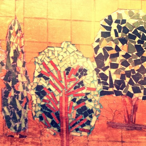 #ilovetrees even when they're mosaic made; #thisislebanon  (Taken with instagram)
