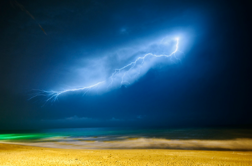 cordisre:  Lightning Strike at the Caspian Sea by AmirAli Sharifi  caspian!