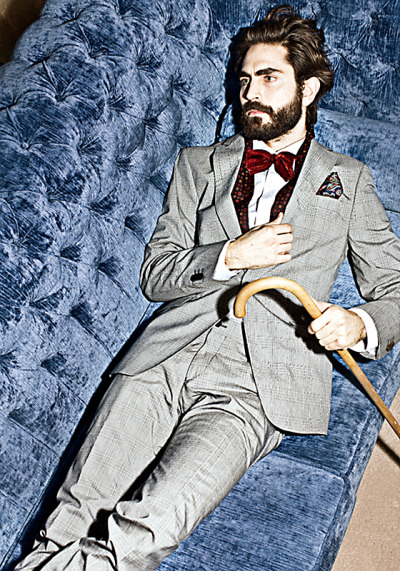 Suits look better with bowties and beards.