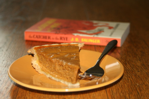 noseinabook-:  Pumpkin Pie and The Catcher in the Rye.