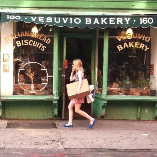 | ♕ |  {photo of the day}  VESVIO BAKERY, SOHO   |  by katespadeny  taking a midday stroll through soho. only a few more weeks of the wonderful weather.Taken with Instagram at Vesuvio Bakery