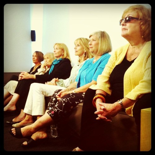"Veteran Pan Am flight attendants watch ABC's ""Pan Am"" (Taken with instagram)"