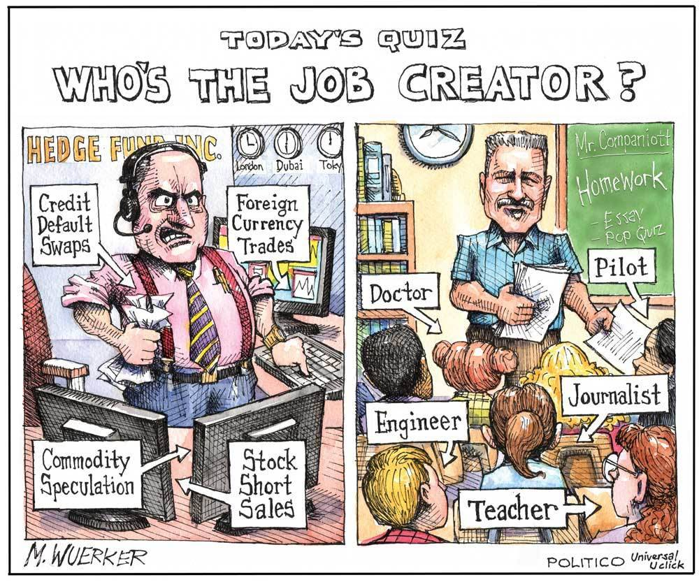 "ryking:  ""Who's the real job creator?""  'Nuff said."