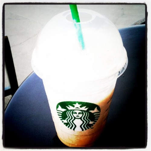 First #pumpkinspice frap of the season from #Starbucks can you say yummy!!  (Taken with instagram)