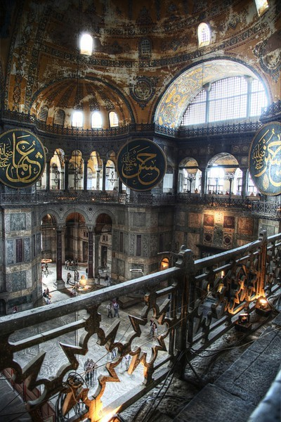 Inside the Hagia Sofia, Istanbul, Turkey (via Travel Dreams / Hagia Sofia Istanbul)