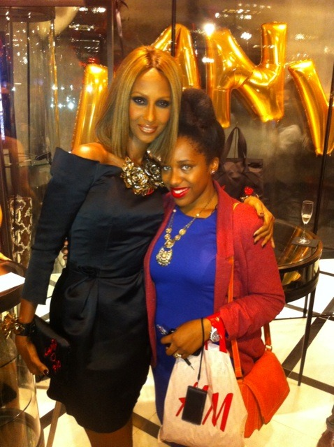 tyraslilsis:  Me and my Fairy Fashion Godmother, Iman, posing for a pic at Lanvin on FNO 2011. <3