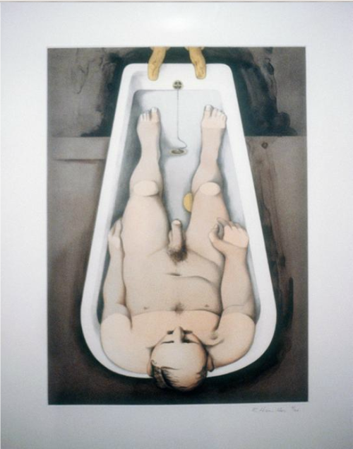 arthistoryx:  He Foresaw His Pale Body, 1991Richard Hamilton    Richard Hamilton, (24 February 1922 – 13 September 2011) this is a mournful year for art… such a great artists have died :(