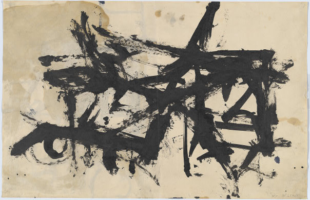 cavetocanvas:  Untitled - Franz Kline, 1947
