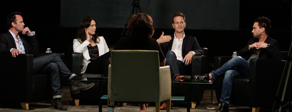 lindcherry:  Walton Goggins , Michelle Forbes, Josh Charles and Johnny Galecki, LA Times first-time Emmy Nominees Roundtable, September 2011