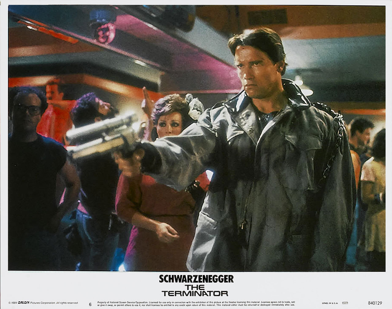 The Terminator, US lobby card. 1984