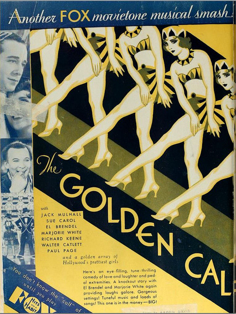 Vintage Film Advert for The Golden Calf 1930 by CharmaineZoe on Flickr.
