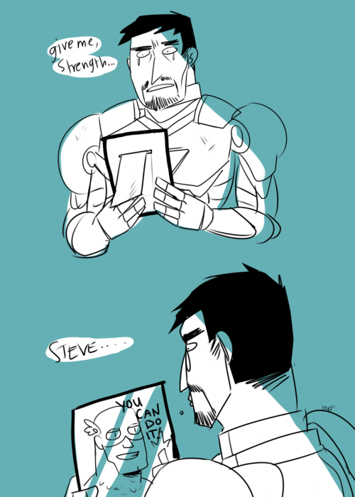 policeghost:  the idea that tony has pictures of cap a like everywhere is actually really funny….but also incredibly creeepy 8|