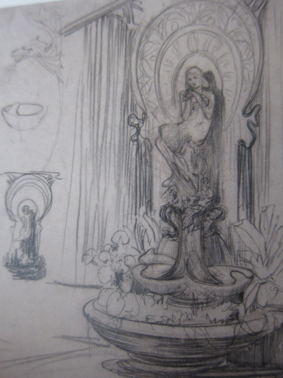 Sketch for the Fouquet Jewelry shop, designed by Alphonse Mucha in 1900.