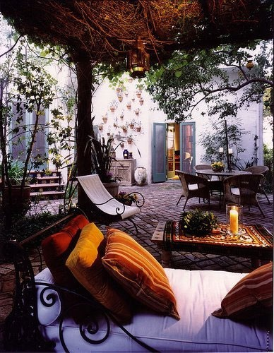 ThatBohemianGirl - My Bohemian Home ~ Outdoor Spaces An outdoor...
