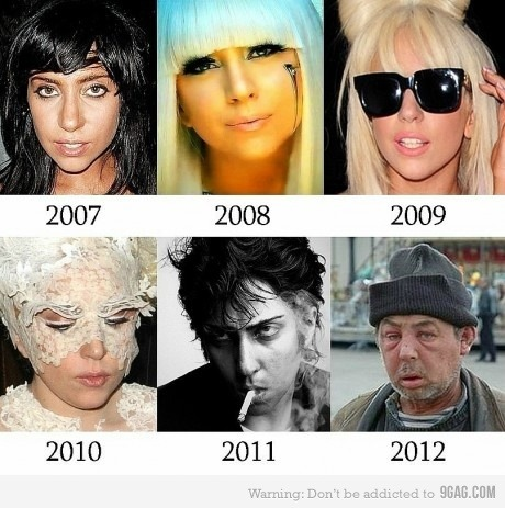La evolucion de Lady Gaga!!   //   Lady Gaga Evolution