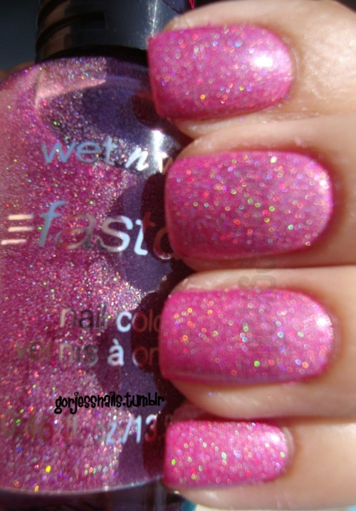 Wet n Wild- Hannah Pinktana over SC- Pink Forever. I've been wanting this one ever since I fell in love with Blue Wants To Be A Millionaire. Great time to pick this up.. 99¢ at Walgreens till the end of the month!.. :D ADORE holos!!.. <3