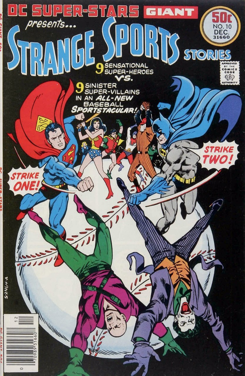 comicbookcovers:  DC Super Stars #10, featuring Strange Sports Stories, December 1976, cover by Ernie Chan and Tatjana Wood