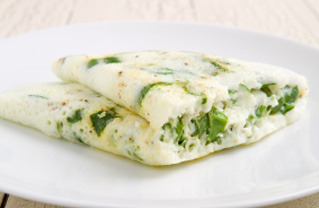 fantasticedibles:  Spinach, Jack Cheese, and Egg White Omelette with White Pepper and Avocado Recipe