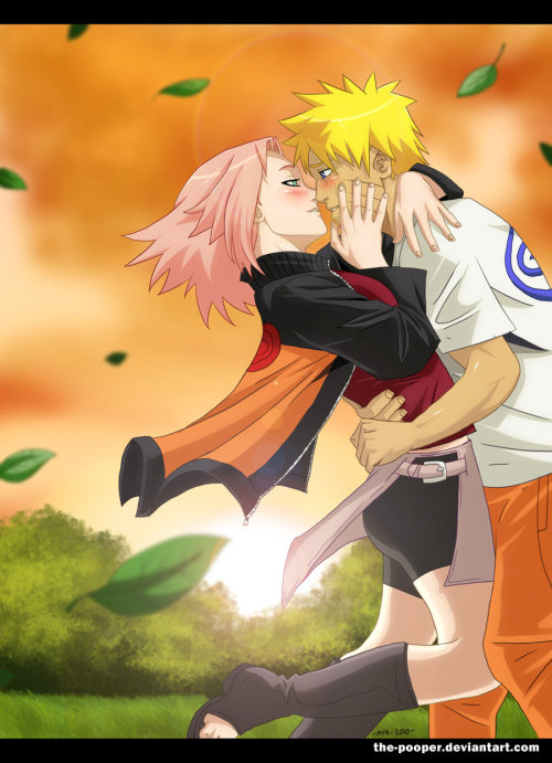 naruxsaku:  NaruSaku: ….you baka…. by *the-pooper