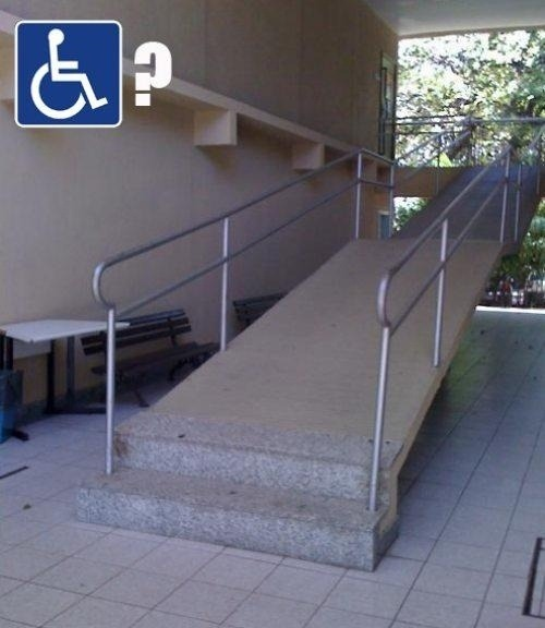 lezlyeyayoi:  This is so dick.  Not everyone gets to use the ramp.