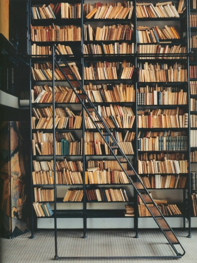 suicideblonde:  The library in the Maison de Verre in Paris