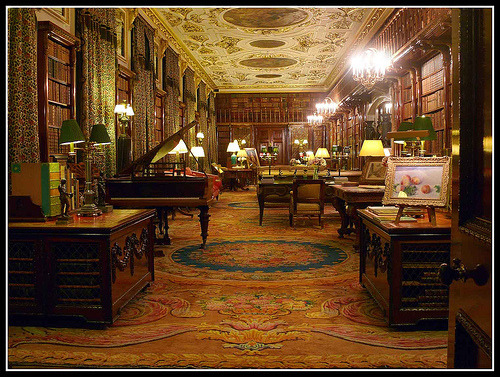 deuxsoleils:  hungry-for-books:  The Library at Chatsworth. Henry Cavendish was a very good, but reserved, amateur scientist and collected many books on the subject as well as writing up his own notes, though none of his writings were published in his lifetime. The library contains 12,000 books from his collection. (photo by MikeJDavis)   deuxsoleils:I'm kind of obsessed with Henry Cavendish right now.