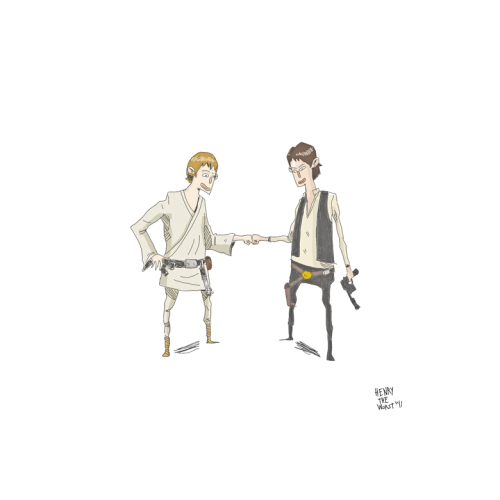 Dap Bros. #4 - Luke Skywalker and Han Solo