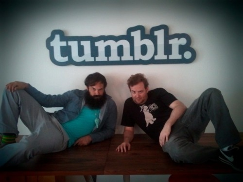 chuckhistory:  Something magical happened at the Tumblr offices today… something magical… magical… yeah.
