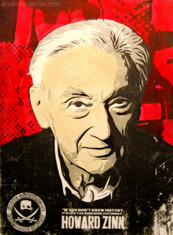 """Howard Zinn"" by ABCNT - LA VS WAR 2011 Art Exhibit on Flickr.Via Flickr: Daily Graffiti Photos and Street Art Culture… www.EndlessCanvas.com Follow us… Facebook, Tumblr, YouTube, Twitter"