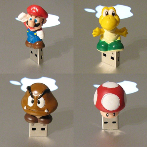 Mario, Koopa Trooper, Goomba and Shroom USB