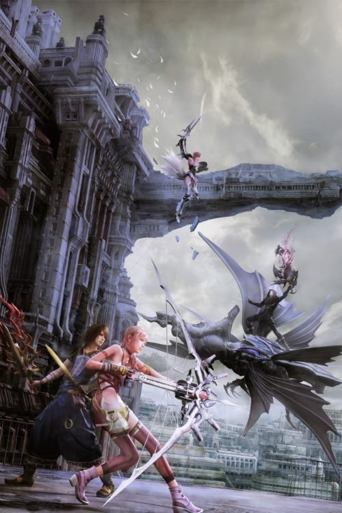 shakkoumon:  Final Fantasy XIII-2 official artwork, High Res