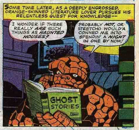 coffee-for-two:  Benjamin J. Grimm, reader. Fantastic Four #58 (1967) by Stan Lee, Jack Kirby and Joe Sinnott