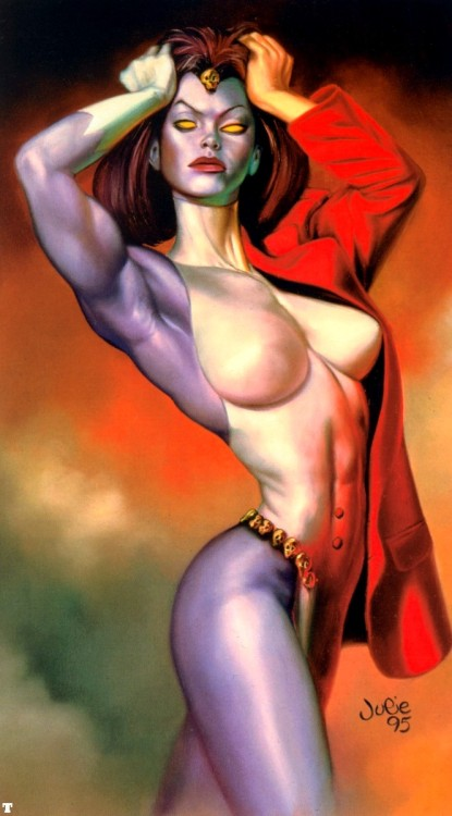 fuckyeahmelancholy:  Mystique by Julie Bell.