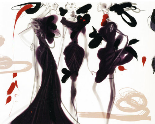 somethingvain:  Christian Lacroix sketches