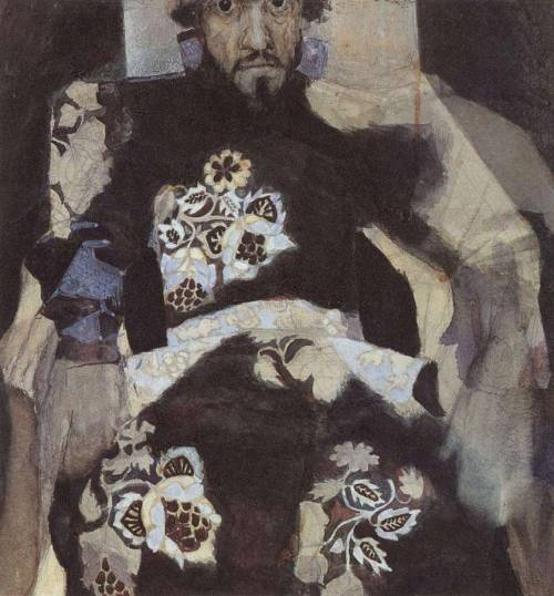"phobs-heh:  Mikhail Vrubel ""A man in old russian costume"""