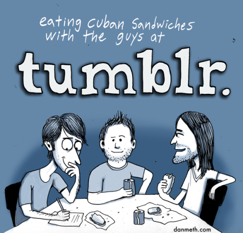 laughingsquid:  Lunch at Tumblr Headquarters