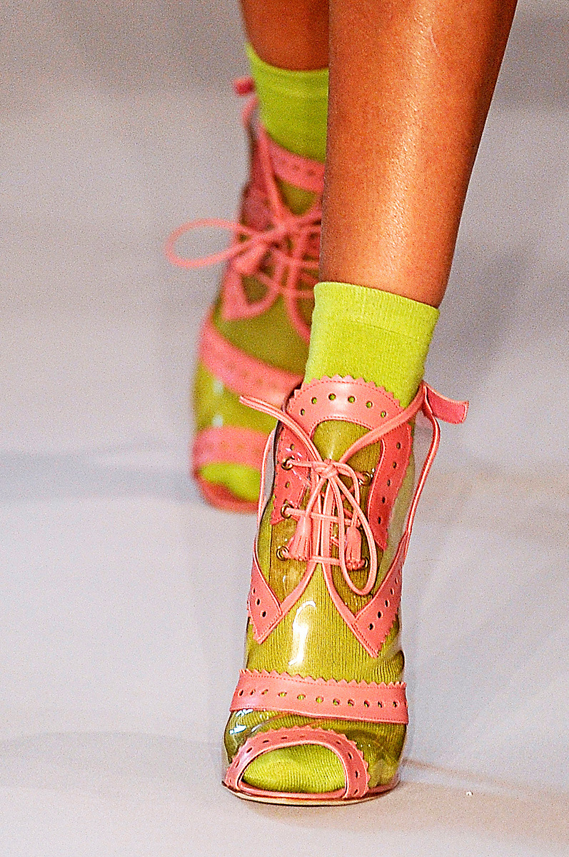 socks.  vogue:  DETAIL: Oscar de la Renta Spring 2012