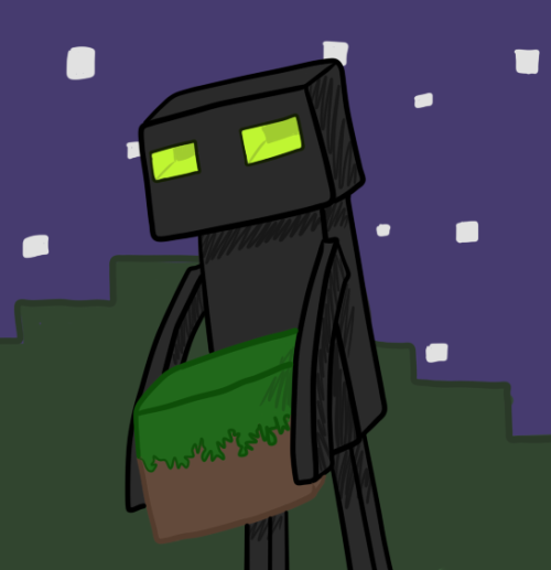 thrillingspree:  Minecraft 1.8 - Endermen by RoseNyght