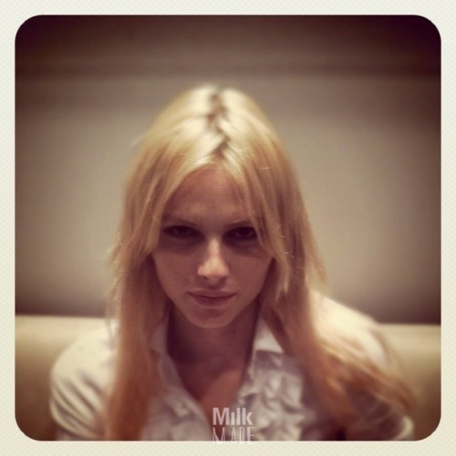 howtotalktogirlsatparties:  milkstudios:  Andrej Pejic in Our Lobby at Milk Studios Right Now For more up-to the moment snaps…  Yo, check this out, right.  There's this dude, okay?  And he looks like a chick.  Like, he's pretty and shit.  Like, even his hair is way nice.  And, so, he models women's clothes.  He's, like, super rich and famous and shit.  Crazy!  Wait… Is this actually a dude? I'm confused.