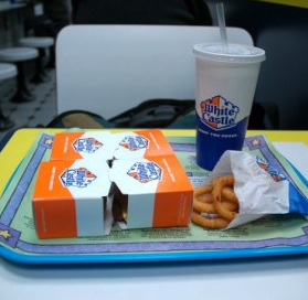 "Only in America: Too fat for a White Castle booth Martin  Kessman of Nanuet, N.Y., has been eating at White Castle religiously  since 1959, but now the 64-year-old, 290-pound, burger-stuffed  stockbroker says he can no longer fit in the restaurant's booths. After  two years of complaining, he's suing the burger chain under the Americans With Disabilities Act. ""I just want to sit down like a normal person,"" Kessman says. More stories from our Only in America collection"