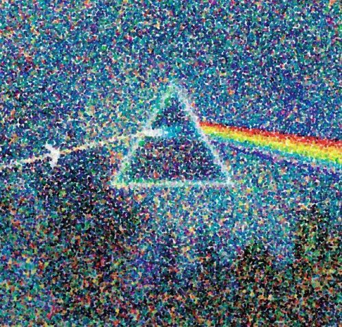 attraversoilvuoto:  The dark side of the moon (così come l'avrebbe dipinta Seurat )