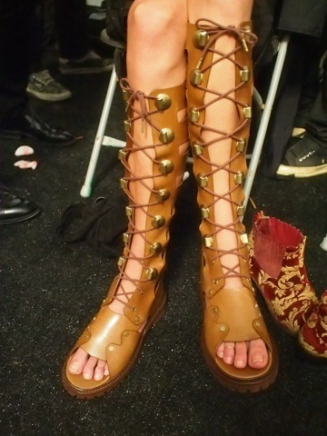 evachen212:  crazy sandals @michaelkors on Erin Wasson  neeeeeeeeeeed