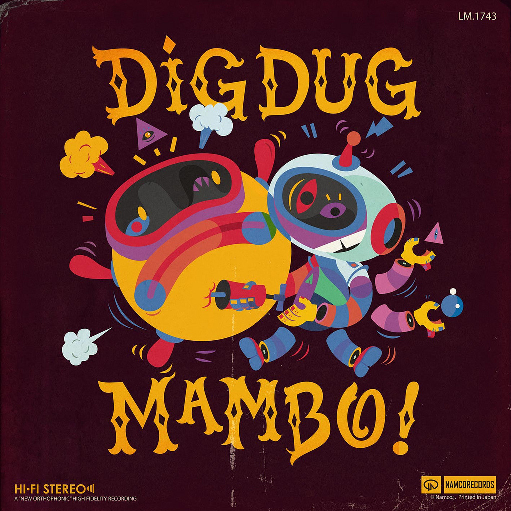 Dig Dug Mambo! Artwork for the 8-Bit Champions Show, Paris via Rey Misterio (Juan Molinet)