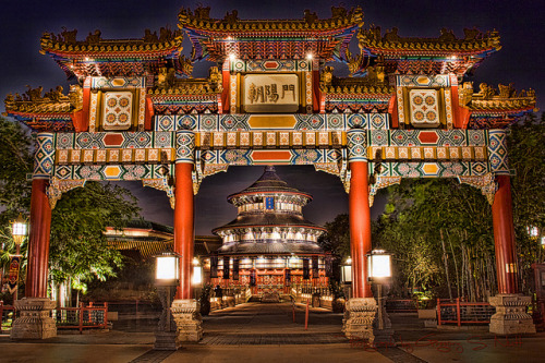 Epcot Center's China Pavilion by Greg McNaughten