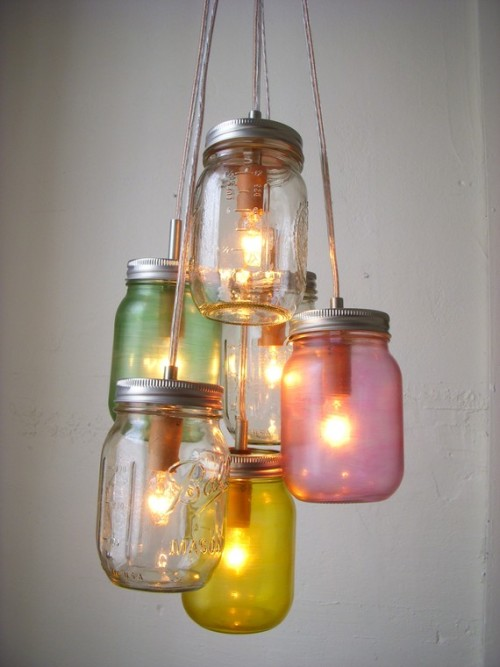 (via Mason Jar Chandelier Lighting Fixture Mason Jar Lamp by BootsNGus)