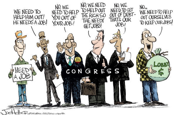 reagan-was-a-horrible-president:  azspot:  Joe Heller  As usual, President Obama is the only one making sense.