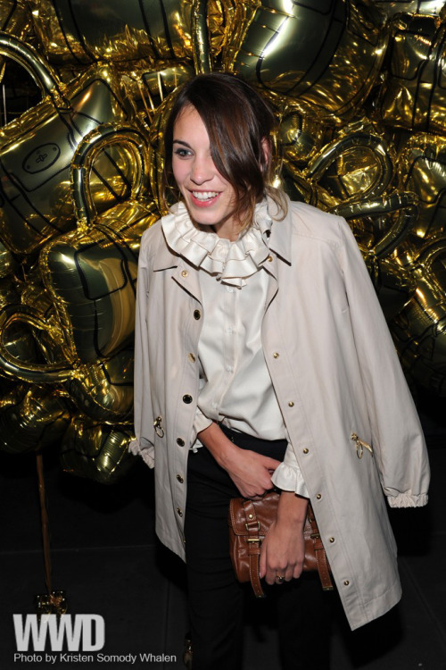 womensweardaily:  Mulberry's 40th Anniversary Party Alexa Chung in Mulberry……….im in love