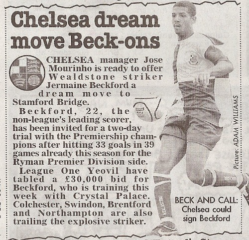 """Chelsea dream move Beck-ons"""