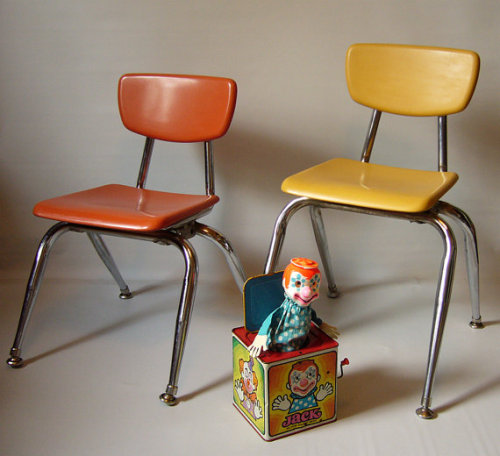 Mid Century Modern School Chair by 3x1vintage on Etsy