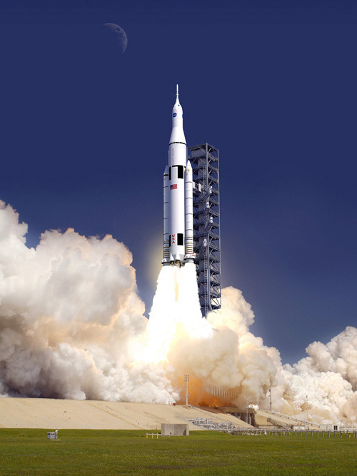 ckck:  NASA just revealed the design of the Space Launch System (or SLS), which unlike the Space Shuttle will be able to take humans beyond Earth's orbit to places like the moon or Mars. View bigger.